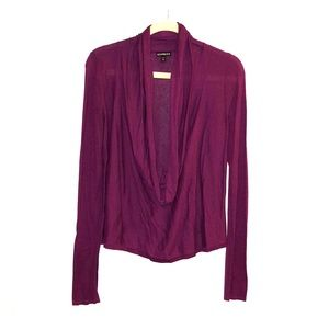 Express Cowl Neck Sweater - Medium - Purple
